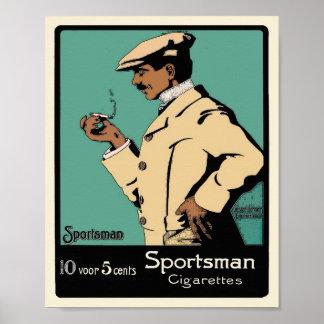 Vintage Tobacco Poster - Sportsman Cigarettes