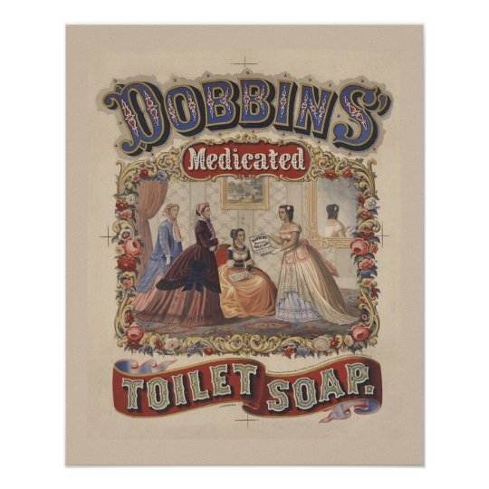 Vintage Toilet Soap Poster