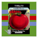 Vintage Tomato Seed Poster