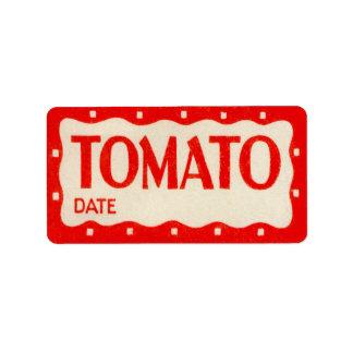 Vintage Tomato Sticker Vegatable Garden Label