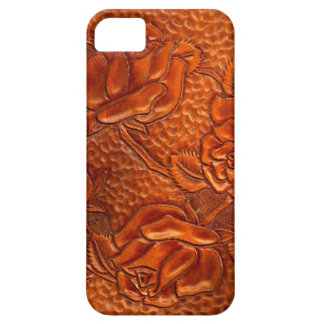 Vintage Tooled Western Leather Roses Barely There iPhone 5 Case
