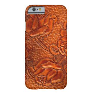 Vintage Tooled Western Leather Roses Barely There iPhone 6 Case