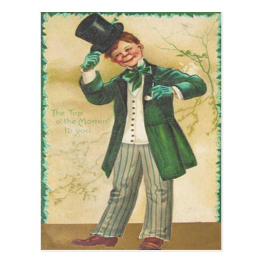 Vintage Top Of The Morning St Patrick's Day Card Postcards