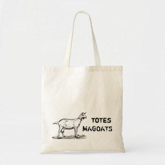 Vintage Totes Magoats Larger text goat reusable Budget Tote Bag