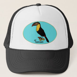 VINTAGE TOUCAN BIRD. YELLOW-THROATED TOUCAN CAP