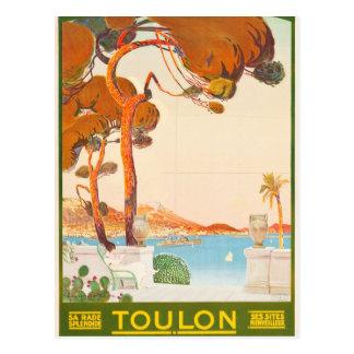 Vintage Toulon Cote D'Azur Provence Alpes Travel Postcard