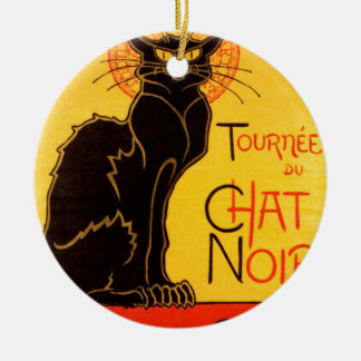 Vintage Tournee de Chat Noir Black Cat Christmas Ornament