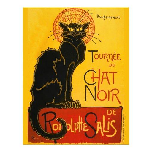 Vintage Tournée Du Chat Noir Theophile Steinlen Custom Flyer