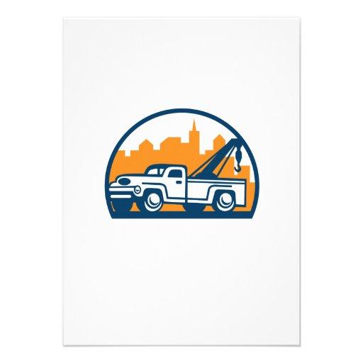 Vintage Tow Truck Wrecker Retro Custom Announcement