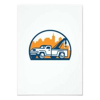 Vintage Tow Truck Wrecker Retro 11 Cm X 16 Cm Invitation Card