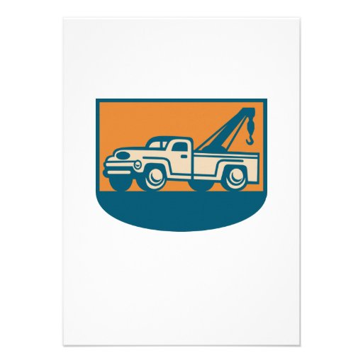 Vintage Tow Wrecker Pick-up Truck Invite