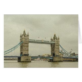 Vintage Tower Bridge Card