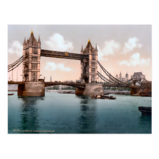 Vintage Tower Bridge London England Postcard