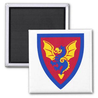 Vintage Toy Brick Knight Shield Logo Square Magnet