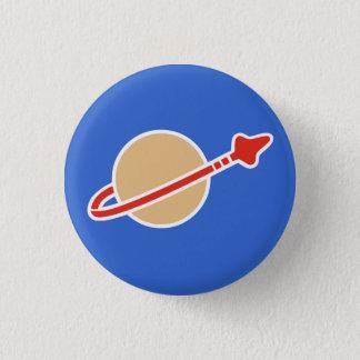Vintage Toy Brick Space Astronaut Symbol 3 Cm Round Badge