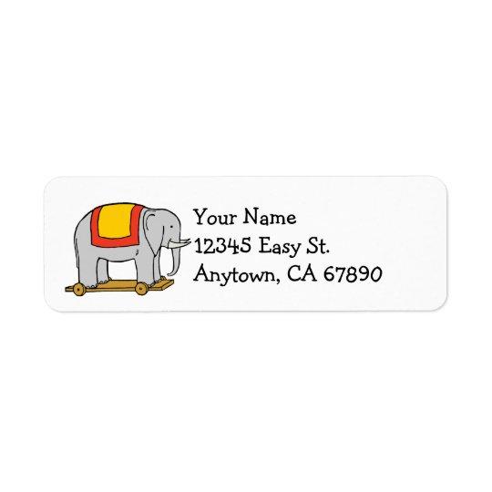 Vintage Toy Elephant Custom Address Label