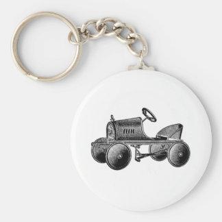 Vintage Toy Pedal Car Basic Round Button Key Ring