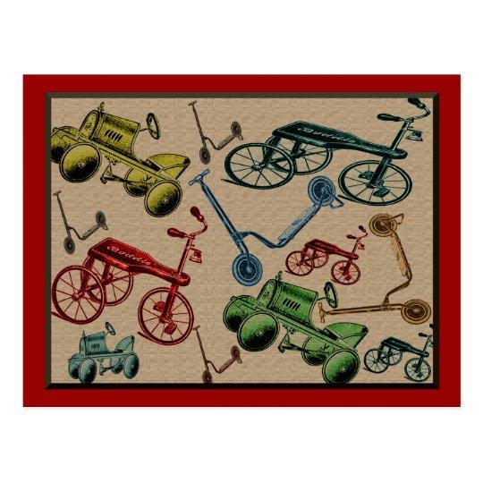 Vintage Toys Postcard