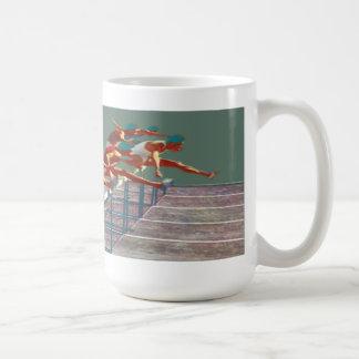 Vintage track and field coffee mug