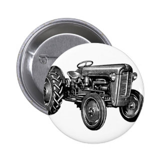 Vintage Tractor 6 Cm Round Badge