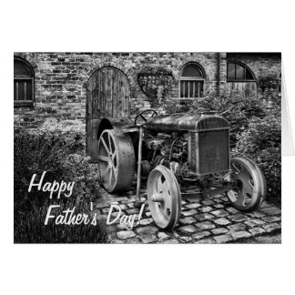 Vintage Tractor Father s Day card
