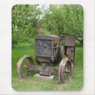 Vintage Tractor in Apple Orchard Mouse Mat
