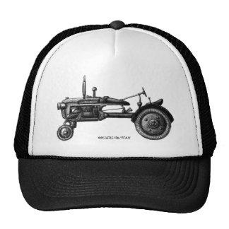 Vintage tractor ink drawing art hat design