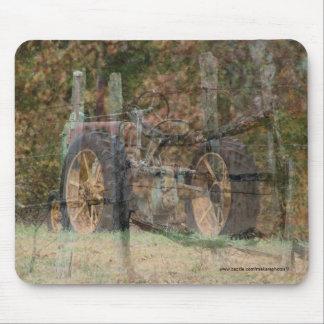Vintage Tractor & Split Rail Fence Mousepad