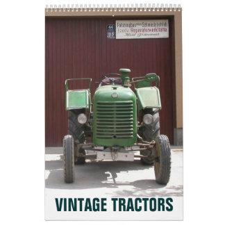 Vintage Tractors 2018 Calendar