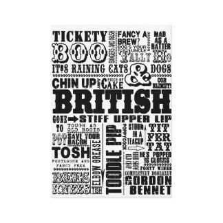 VINTAGE TRADITIONAL BRITISH SAYINGS CANVAS