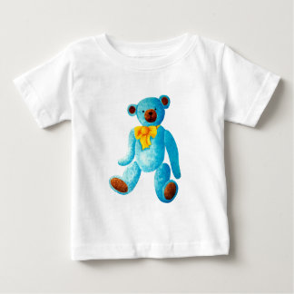 Vintage/Traditional Style Blue Painted Teddy Bear Baby T-Shirt