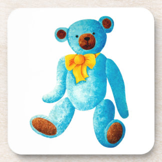 Vintage/Traditional Style Blue Painted Teddy Bear Coaster