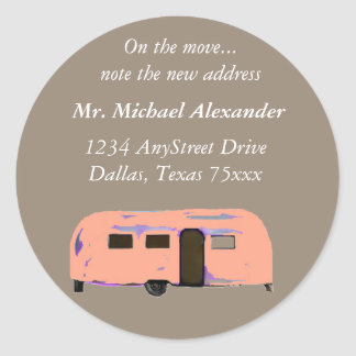 Vintage Trailer New Address Labels