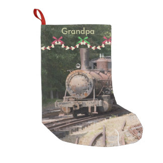 Vintage Train Christmas Stocking
