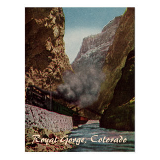 Vintage Train in Royal Gorge Postcard