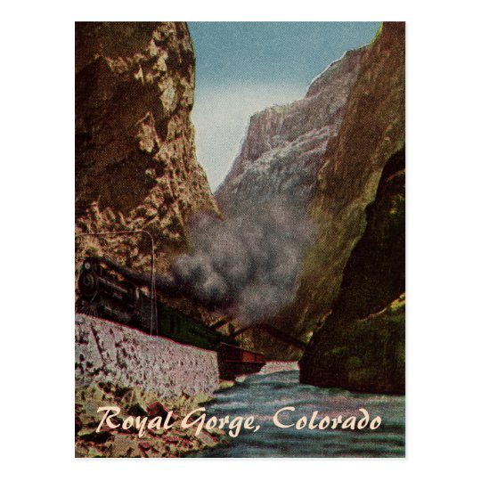 Vintage Train in Royal Gorge Postcard