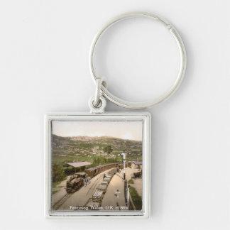 Vintage Train keychain,  Festiniog, Wales, U.K. Key Chains