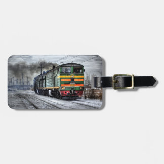 Vintage Train Luggage Tag