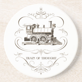 Vintage Train of Thought Beverage Coaster