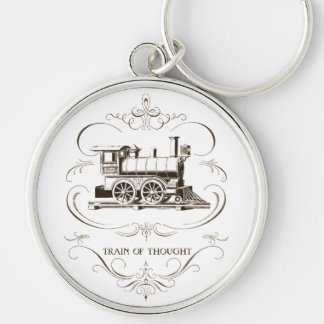 Vintage Train of Thought Key Ring