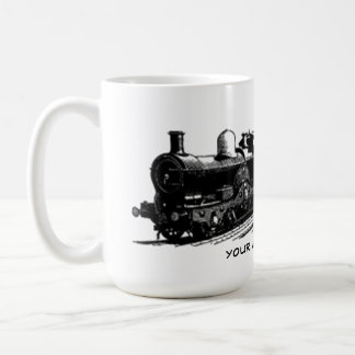 vintage train steam locomotive mug