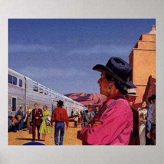 Vintage Train Travel Poster