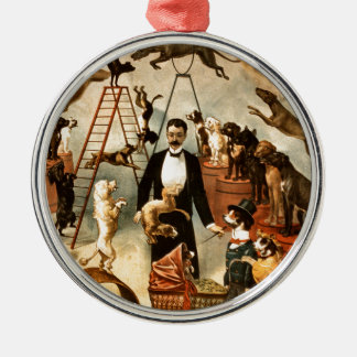 Vintage Trained Circus Dog Act Trick Dogs1899 Christmas Ornament