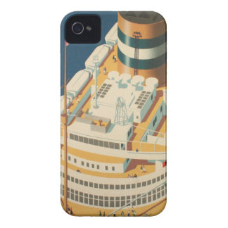 Vintage Trans-Atlantic Ship Case-Mate iPhone 4 Case