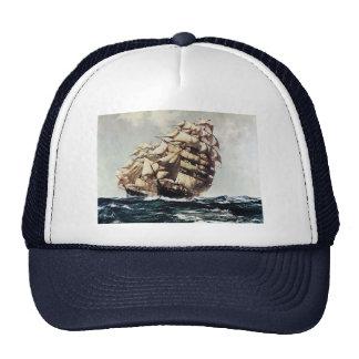 Vintage Transporation Clipper Ship in Rough Seas Trucker Hat