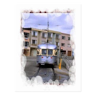 Vintage Transport - Town tram Postcard