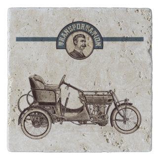 Vintage Transportation (Car) Travertine Trivet
