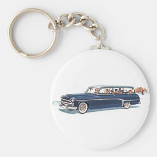 Vintage Transportation, Family Station Wagon Car Keychain