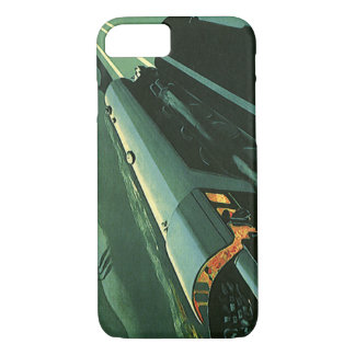 Vintage Transportation, Green Speeding Train iPhone 7 Case