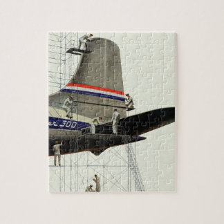 Vintage Transportation, Maintenance for Airplanes Jigsaw Puzzle